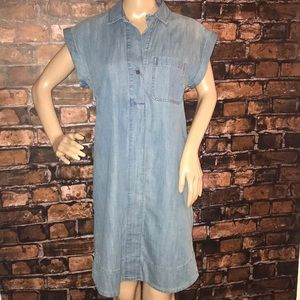 J. Crew denim short sleeve dress